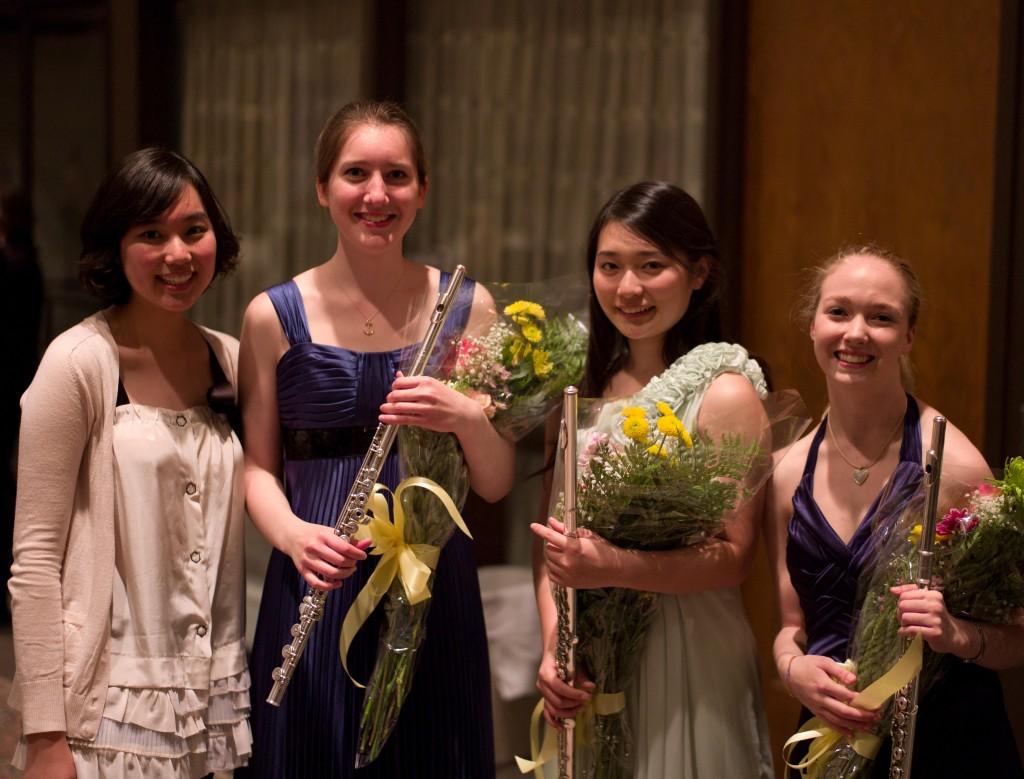 L to R: Jiweon Ryu, Catherine Jones, Mayuko Akimoto, Madeline Aiken